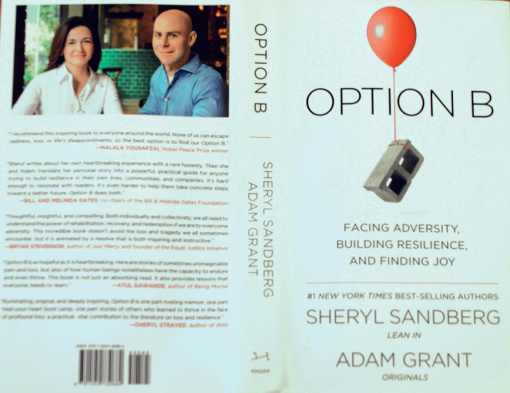 Author Sheryl Sandberg and co-writer Adam Grant