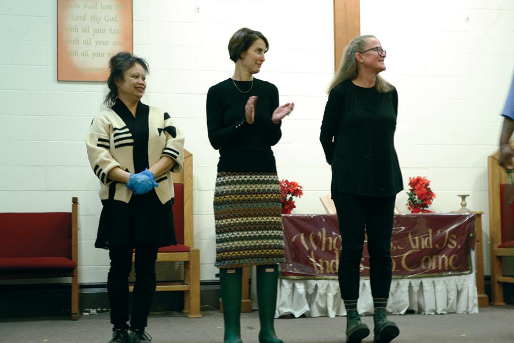 Facilitatiors Dina Durano, Erin West, and Mary Ginsburg