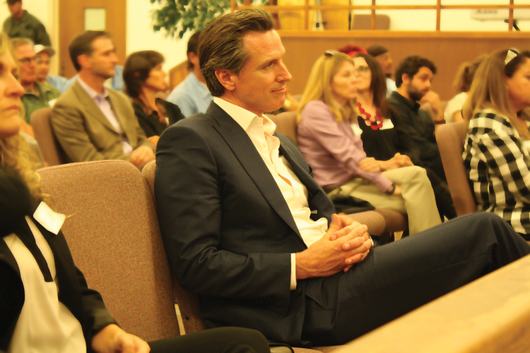 California's Governor Gavin Newson