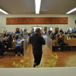 Kevin McCracken speaking at the Restorative Justive symposium