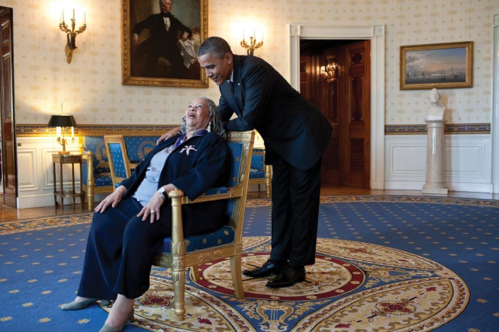 Toni Morrison with President Obama