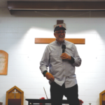 Bob Goff talking about ambitions in the SQ Protestant Chapel