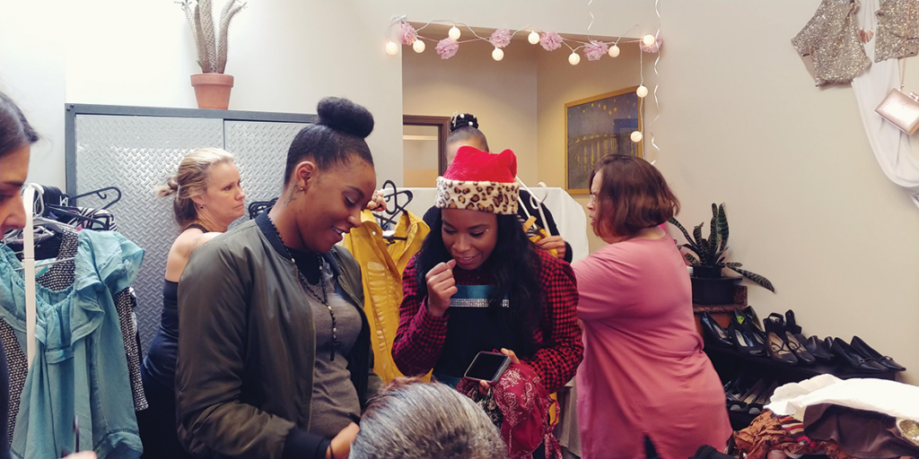 Women building sisterhood and networking