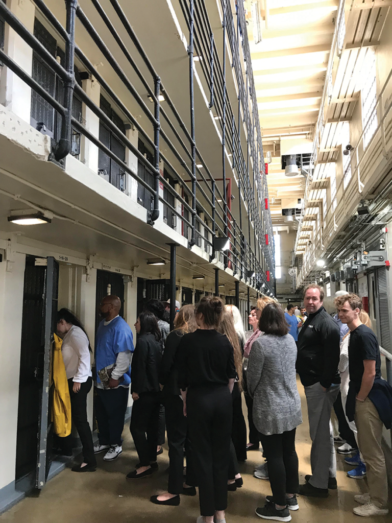 Derby students get a first hand look at SQ prison cells