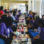 Families eating, playing games, and enjoying GOTB 2019