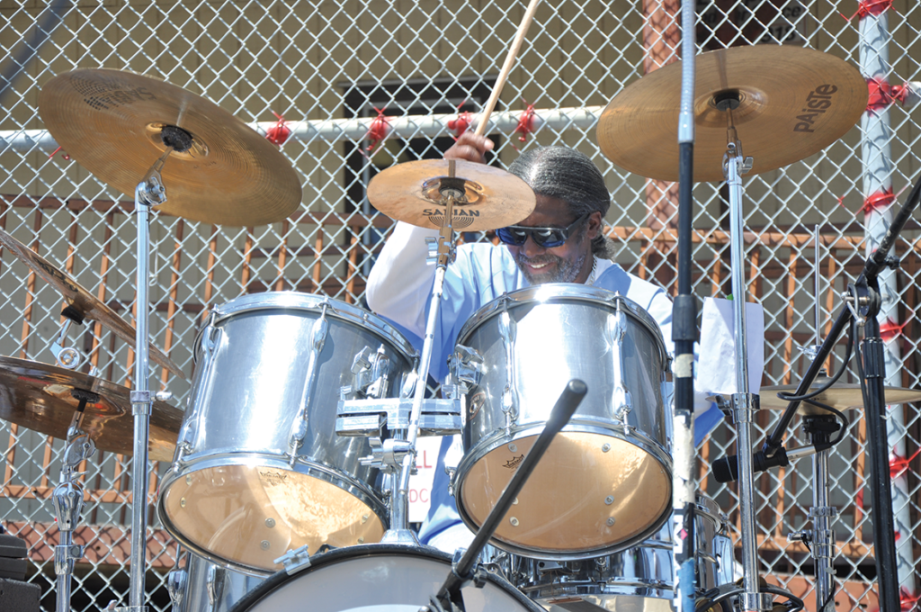 James Benson on drums