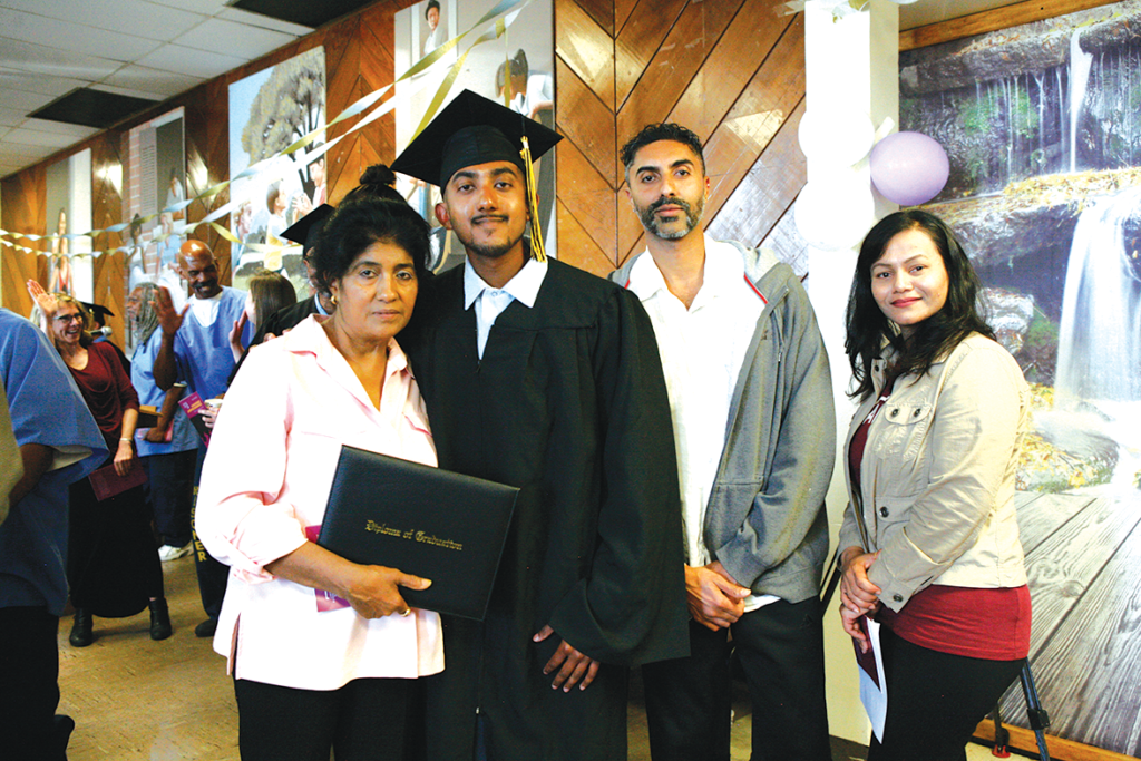 Graduate Sumit Lal and family