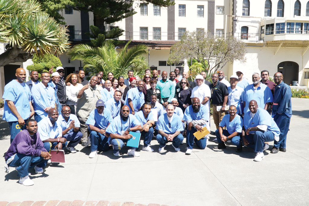 Participants of the Barbershop Forum on the Garden Chapel Courtyard after the event