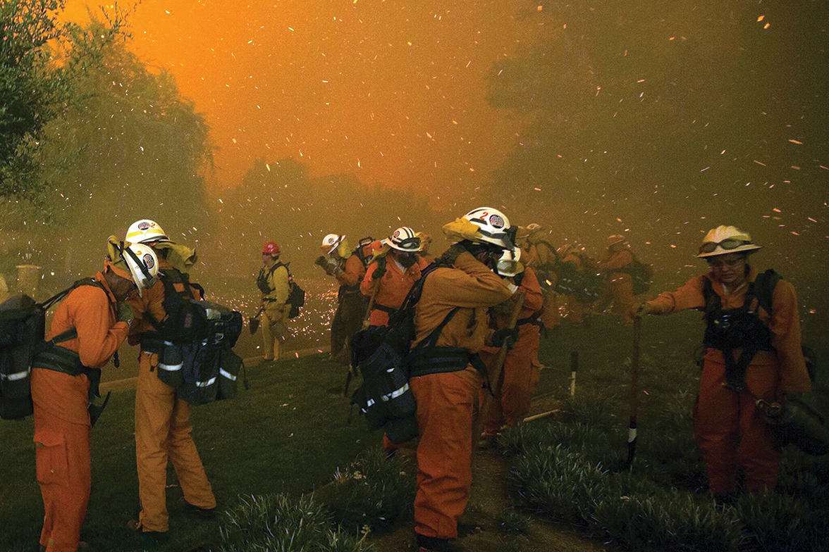 Female firefighters on the front lines of California wildfires