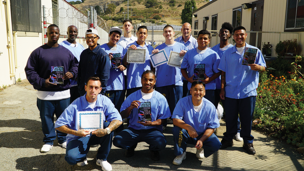 San Quentin's first-ever YOP graduate class of Power Source