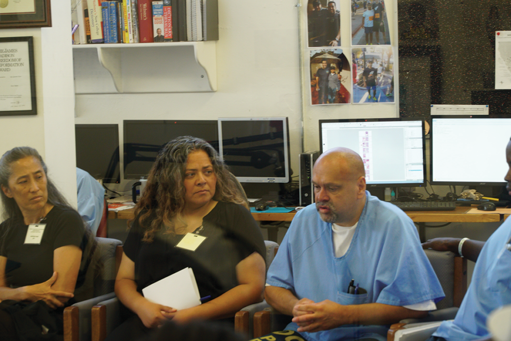 Dana Morgan and Marisa Villega hear as Norberto Andino Photo by FirstWatch opens up about his educational experiences