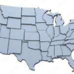 USA America states national map